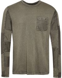 French Connection | Men's Patchwork Terry Crew Neck T-shirt | Lyst