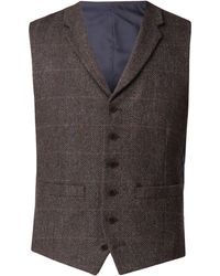 Racing Green - Men's Lane Brown Check Waistcoat - Lyst