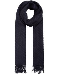 Label Lab - Textured Check Scarf - Lyst