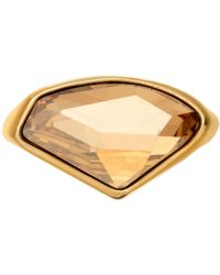 Aurora | 18ct Gold Plated Crystal Ring | Lyst