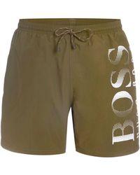 BOSS | Men's Octopus Large Logo Swim Shorts | Lyst
