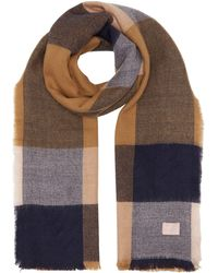 Joules - Oblong Checked Scarf - Lyst