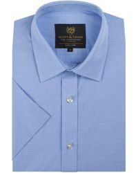 Scott & Taylor | Men's Blue End On End Shirt | Lyst