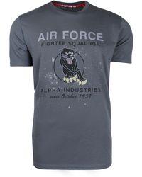 Alpha Industries - Men's Black Panther T-shirt - Lyst