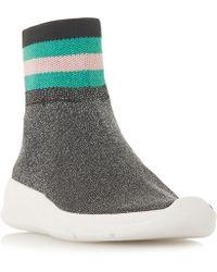 Dune - Ecstatic Glitter Stitch Sock Trainers - Lyst