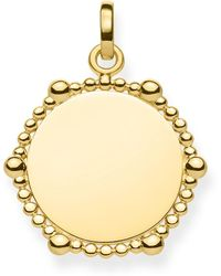 Thomas Sabo - Love Coin Dot Edge Gold Engravable Disc Pendant - Lyst