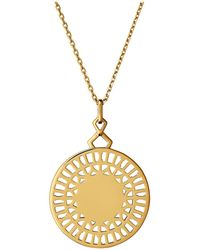 Links of London - Timeless 18kt Yellow Gold Vermeil Necklace - Lyst
