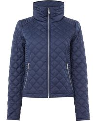 Andrew Marc | Quilted Jacket With Zip Detail Sleeve | Lyst