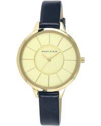 Anne Klein - Navy Leather Watch - Lyst
