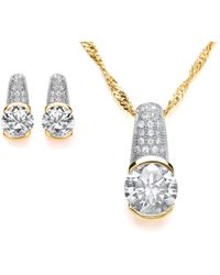 Bouton   Chunky Pave Pendant And Earrings Set   Lyst