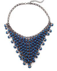 James Lakeland - Pearl V Collar Necklace - Lyst