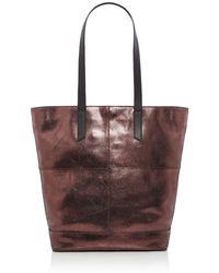 Label Lab - Metallic Leather Tote Bag - Lyst