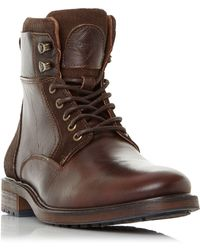 Dune - Colchester Lace Up Worker Boots - Lyst