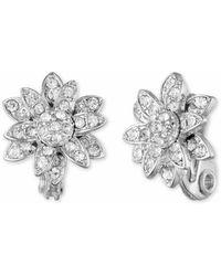 Anne Klein - Flower Slip-on Stud Earrings - Lyst
