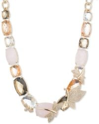 Anne Klein - Drama Dragonfly Critter Collar Necklace - Lyst