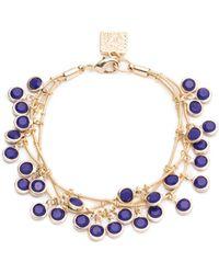 Anne Klein - Shaky 3 Row Bracelet - Lyst