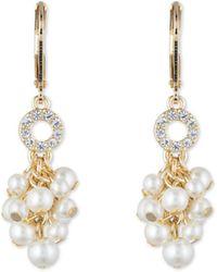 Anne Klein - Shaky Pearl Leverback Earrings - Lyst
