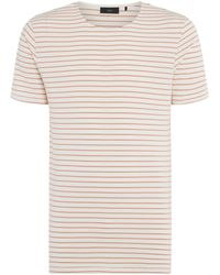 Minimum - Striped Crew Neck T-shirt - Lyst