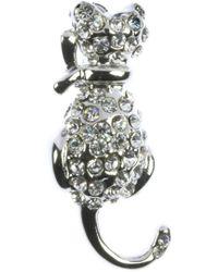 Indulgence Jewellery - Indulgence Small Crystal Cat Brooch - Lyst