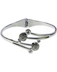 Indulgence Jewellery - Indulgence Shiny Bangle With Crystals - Lyst
