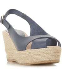 Dune Black - Kyri Wedge Sandal Shoes - Lyst