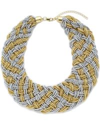 Jacques Vert - Beaded Woven Necklace - Lyst