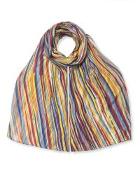 East - Silk Broken Stripe Scarf - Lyst