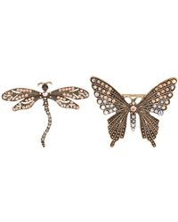 Accessorize - Dragonfly And Butterfly Brooch Pack - Lyst