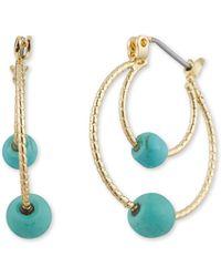 Anne Klein - Clickit Hoop Earring - Lyst