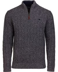 Raging Bull - Men's Big And Tall Cable Knit 14 Zip - Lyst