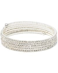 Anne Klein - Silvertone Multi-strand Bangle - Lyst