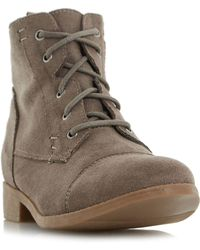 Dune - Paola Lace Up Desert Boots - Lyst