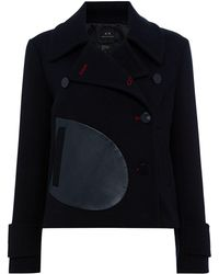 Armani Exchange - Oversized Pocket Blouson Coat - Lyst