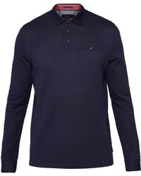 Ted Baker - Textured Cotton Polo Shirt - Lyst