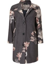 James Lakeland - Floral Tailored Coat - Lyst