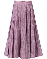 Jolie Moi - Lace Bonded Pleated Midi Skirt - Lyst