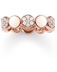 Thomas Sabo - Sparkling Circles Pave Rose Gold Ring - Lyst