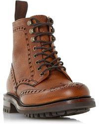 Cheaney - Tweed Commando Sole Brogue Boots - Lyst