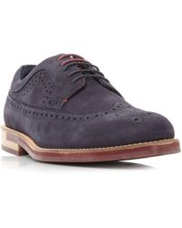 a04b250fa48e Ted Baker - Fanngo Nubuck Leather Brogue Shoes - Lyst