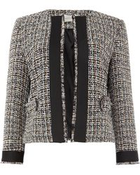 Marella - Tweed Jacket With Pockets - Lyst