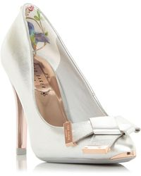 a59625513918c2 House of Fraser · Ted Baker - Ayelar Twist Bow Court Shoes - Lyst