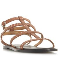 4607471ca68b Dune Lorrenzo Double Buckle Gladiator Sandals in Brown - Lyst