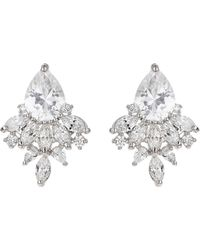 Mikey - Oval Cubic Filligree Stus Earring - Lyst