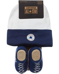 Converse - New Born Hat And Booties Gift Set - Lyst