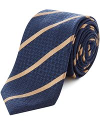 Kenneth Cole - Noda Stripe And Spot Texture Tie - Lyst