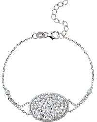 Mikey - Sterling Silver 925 Oblong Centre Tennis - Lyst