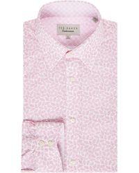 Ted Baker - Nimph Leaf Tonal Print Shirt - Lyst
