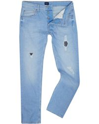 Pepe Jeans - Men's Zinc Bleached Patch Denim Jeans - Lyst