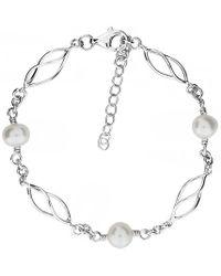 Azendi - Silver & Freshwater Pearl Bracelet - Lyst