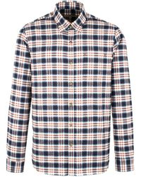 Gibson - Navy And Burgundy Long Sleeved Shirt - Lyst